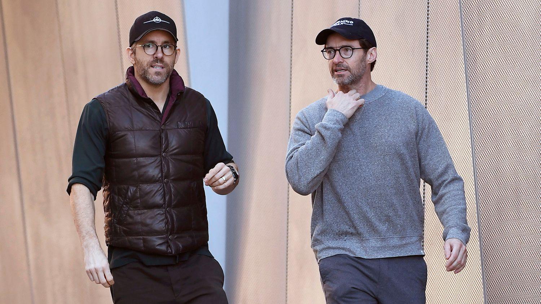 Ryan Reynolds (à gauche) et Hugh Jackman à Los Angeles le 24 décembre 2019.