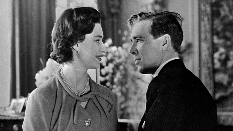Margaret et Lord Snowdon, avant le mariage, dans un portrait à Windsor en 1960.